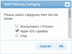 Add Filtering Category